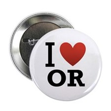 "I Love Oregon 2.25"" Button"