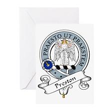 Preston Clan Badge Greeting Cards (Pk of 10)