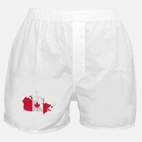 Canada map flag Boxer Shorts