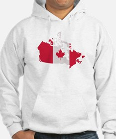 Canada map flag Hoodie