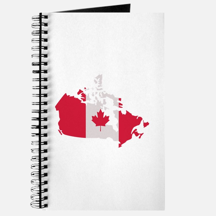 Canada map flag Journal