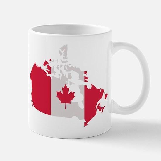 Canada map flag Mug