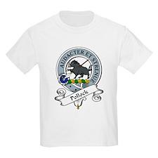 Pollock Clan Badge Kids T-Shirt