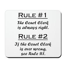 Court Clerk Mousepad