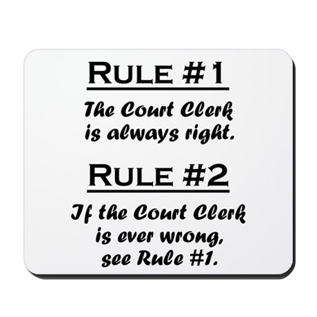 Court Clerk Mousepad