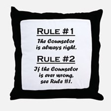 Counselor Throw Pillow
