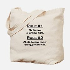 Coroner Tote Bag