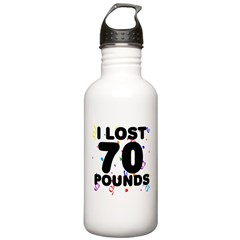 I Lost 70 Pounds! Water Bottle