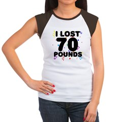 I Lost 70 Pounds! Women's Cap Sleeve T-Shirt