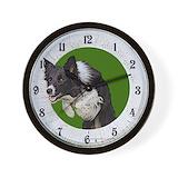 Border collie Wall Clocks