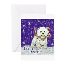 West Highland Let it Snow Greeting Cards (Pk of 10