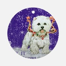 West Highland Let it Snow Ornament (Round)