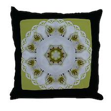 Orchid Kaleidoscope Throw Pillow