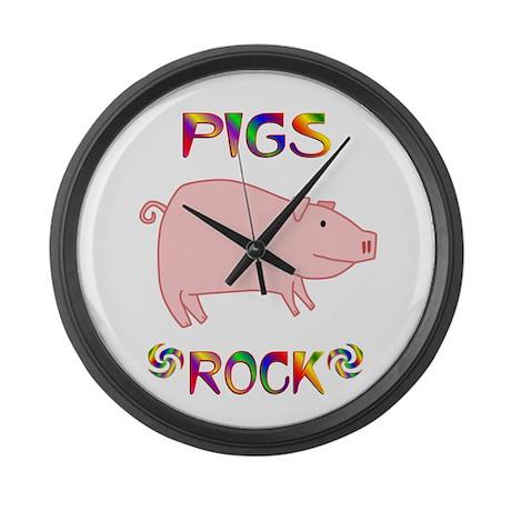 Pig Large Wall Clock