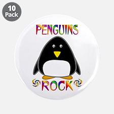 "Penguin 3.5"" Button (10 pack)"