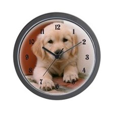 Golden Retriever Puppy Wall Clock