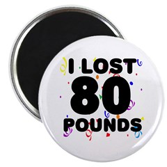 I Lost 80 Pounds! Magnet