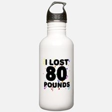 I Lost 80 Pounds! Water Bottle