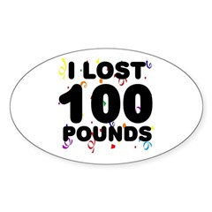 I Lost 100 Pounds! Decal