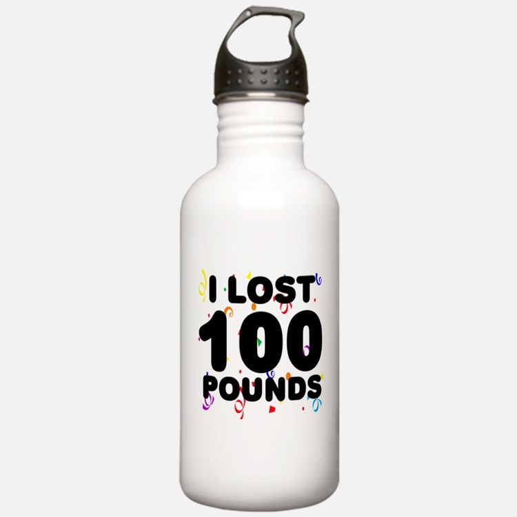 I Lost 100 Pounds! Water Bottle
