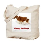 Brittany Spaniel Holiday Christmas Tote Bag