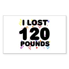 I Lost 120 Pounds! Decal
