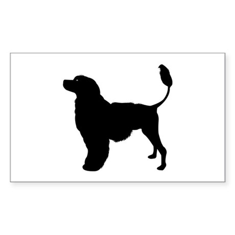 Portuguese Water Dog Rectangle Sticker