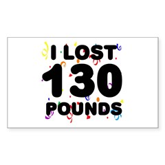 I Lost 130 Pounds! Decal