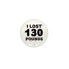 I Lost 130 Pounds! Mini Button