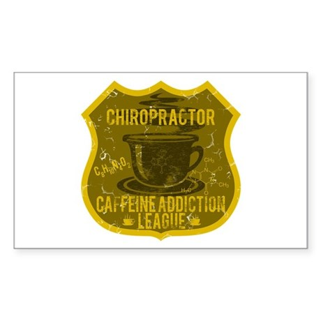Chiropractor Caffeine Addiction Sticker (Rectangle