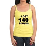 I Lost 140 Pounds! Jr. Spaghetti Tank