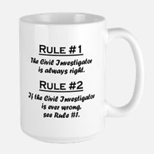 Civil Investigator Large Mug