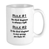 Civil engineer Large Mugs (15 oz)