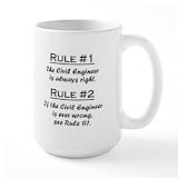 Civil engineer Large Mugs (15 oz)