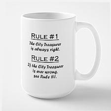City Treasurer Large Mug