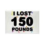 I Lost 150 Pounds! Rectangle Magnet