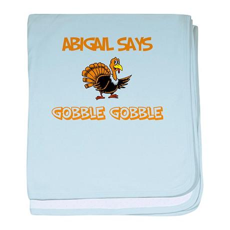 Abigail Says Gobble Gobble baby blanket