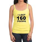 I Lost 160 Pounds! Jr. Spaghetti Tank