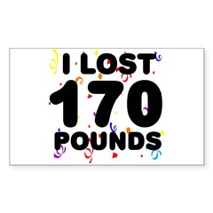 I Lost 170 Pounds! Decal