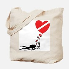I Love SCUBA Diving Tote Bag