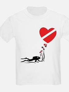 I Love SCUBA Diving Kids T-Shirt