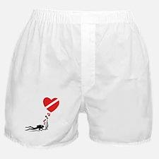 I Love SCUBA Diving Boxer Shorts
