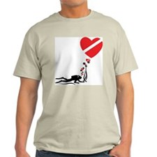 I Love SCUBA Diving Ash Grey T-Shirt