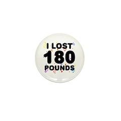 I Lost 180 Pounds! Mini Button