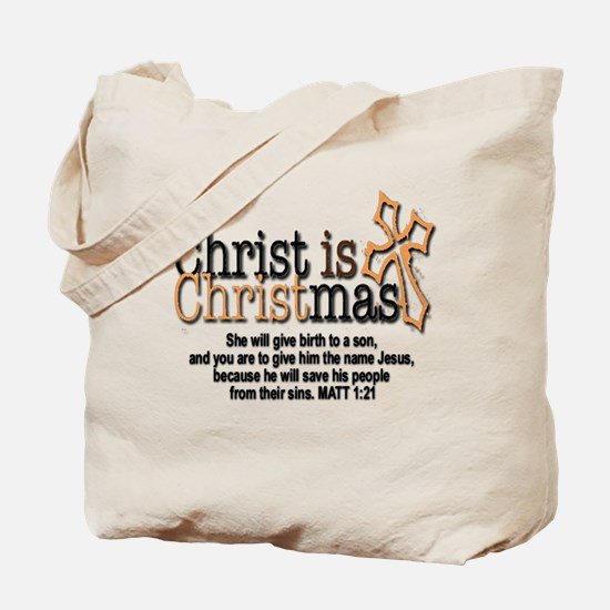 Christ back in Christmas Tote Bag