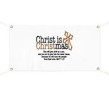Christ back in Christmas Banner
