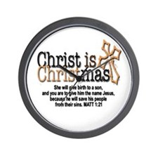 Christ back in Christmas Wall Clock