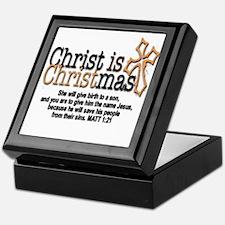 Christ back in Christmas Keepsake Box