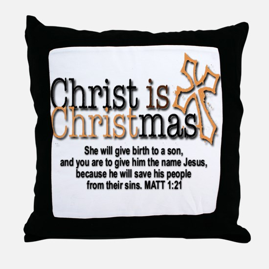 Christ back in Christmas Throw Pillow