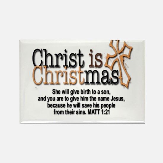 Christ back in Christmas Rectangle Magnet (10 pack